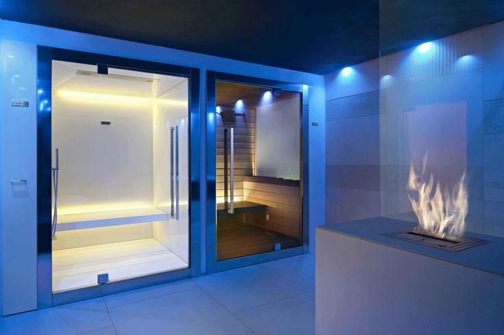 Modern sauna and steamcabin