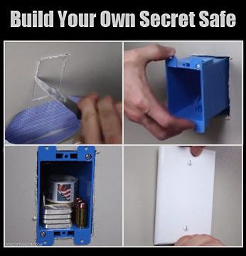 #BuildYourOwnAtHome  Sometimes there's no need for a big bulky heavy safe, especially if you have small items to hide.  Or maybe you need an extra spot where no one would ever look.  Maybe your safe's not bolted down, and need an additional safe for jewelry or gold. Maybe need a safe so you don't have to deal with lock codes & combinations.  Here's a fun DIY project on building your owns secret safe with just a few materials…
