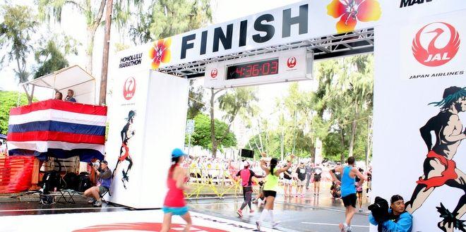 """Honolulu Marathon 2014 in rain & wind"" 雨と風の中の「ホノルルマラソン2014」 | ハワイ最新情報満載!プーコのハワイサイト"