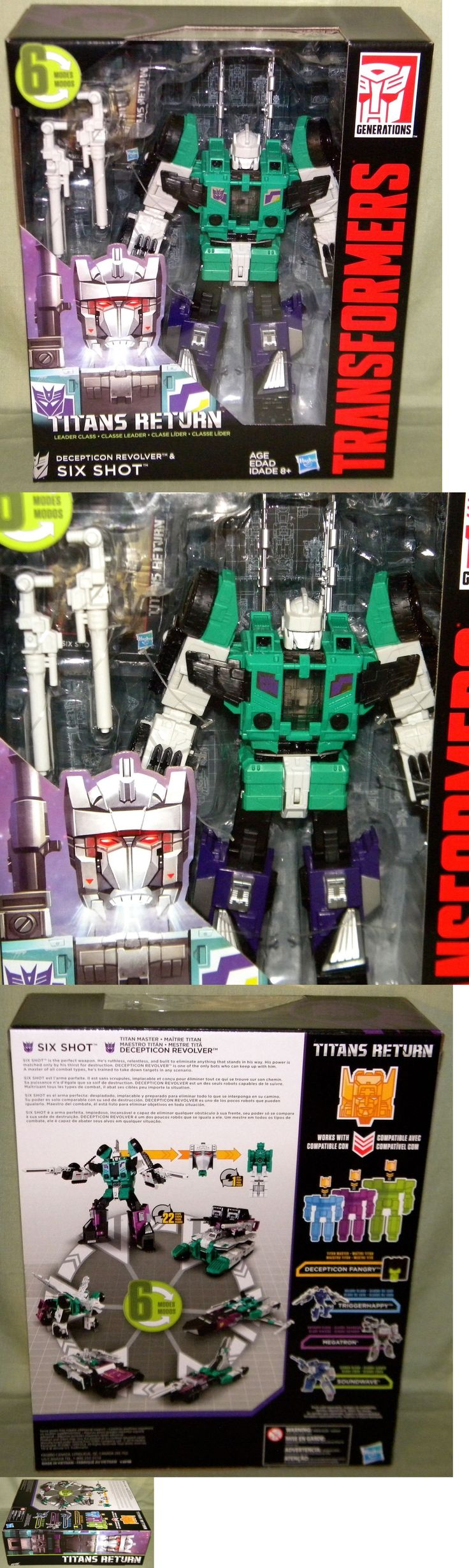 Transformers and Robots 83732: Decepticon Revolver And Six Shot Transformers Titans Return Leader Class 2017 -> BUY IT NOW ONLY: $47.95 on eBay!
