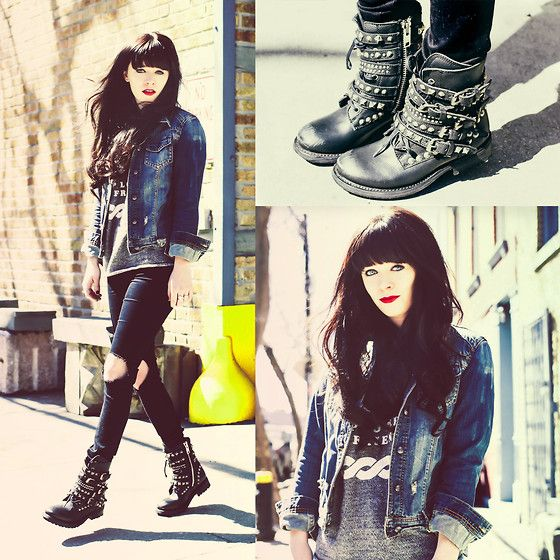 Rachel-Marie Iwanyszyn - Ash Footwear Rebel Boot, Asos Jeans - REBEL.