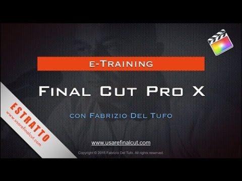 Final Cut Pro X - Gestione Audio - YouTube