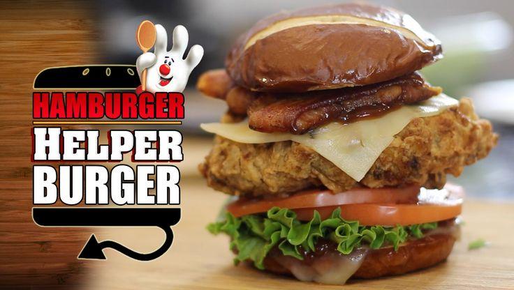 Deep Fried Hamburger Helper Burger Recipe - HellthyJunkFood