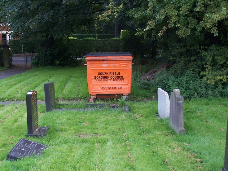 Who goes to a graveyard to dispose of industrial waste?