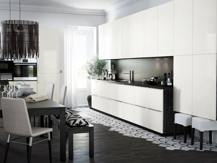 72 best images about kitchen on pinterest stove islands and spice drawer - Cuisine ikea noire mat ...