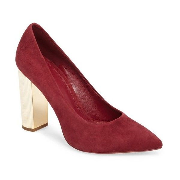 Women's Michael Michael Kors Paloma Metallic Heel Pump (1.823.985 IDR) ❤ liked on Polyvore featuring shoes, pumps, mulberry suede, pointy-toe pumps, michael michael kors, michael michael kors shoes, metallic pumps and pointy toe shoes