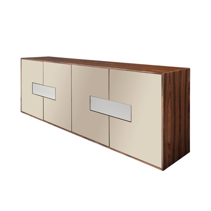 Opium Sideboard - Dining Room Decor - Laskasas   Decorate your Life   Mid-century meet modern style in this clean lined sideboard. With an elegant design and subtle clean lines, Opium sideboard is the bold statement you need in you interior design. Made in solid wood, the materials can be customizable to glossy ironwood finishes. A perfect addition to a living or dining room space.   Visit www.laskasas.com and discover more contemporary sideboards for your mid-century dining room decor