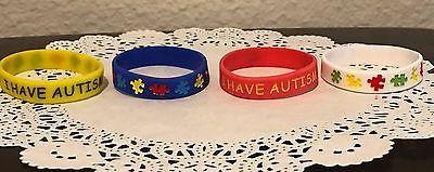 I HAVE AUTISM - 4 pcs Medical Alert Silicone Bracelets for Kids (16 cm)