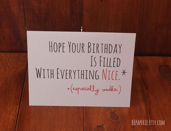 Funny Birthday Card / Humor Birthday Card / Friend by BEpaperie, $4.00
