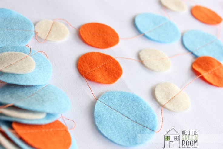 Felt decos for Giggle and Hoot Party
