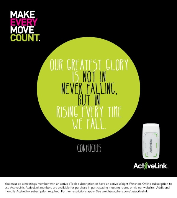 Our greatest glory is in not in never falling, but in rising every time we fall. #WWLoves #ActiveLink #PintoWin