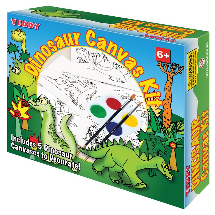 Dinosaur Canvas Painting Kit: Dinosaur enthusiasts will love to paint these dino themed canvases.