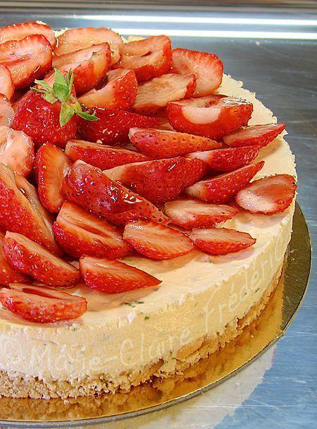 cheesecake fraise-citron