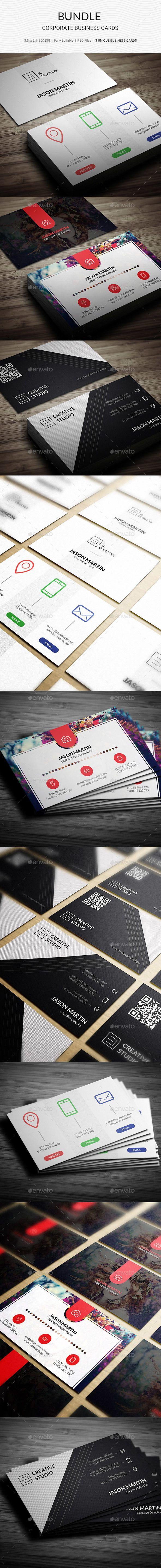 Bundle - Creaitve Business Cards - 3 in 1 - 164 - Creative #Business #Cards