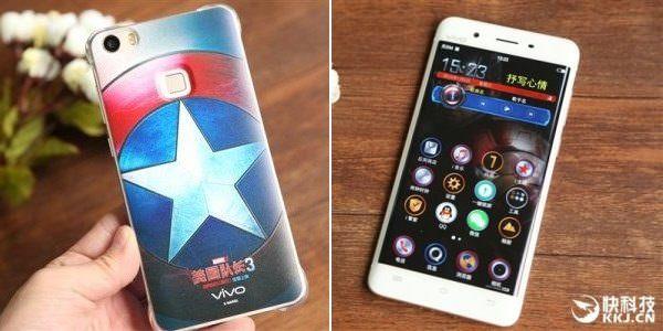 Menyambut pemutaran film Captain America: Civil War, Vivo meluncurkan smartphone Xplay 5 edisi Captain America.