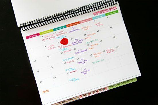 Diy Calendar Notebook : Iheart organizing my daily planner calendar