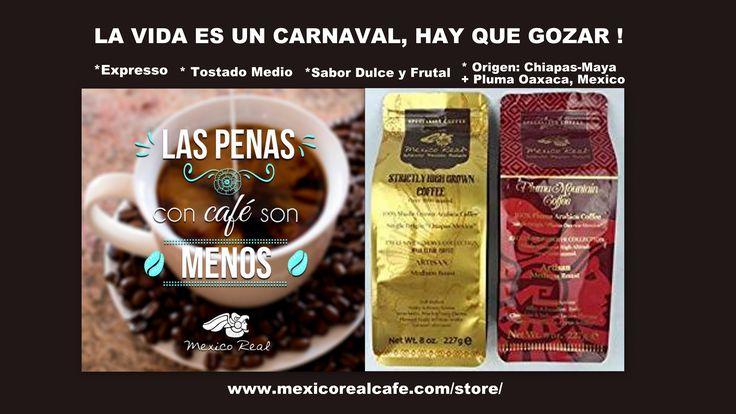 DESPACITO!! HAY QUE GOZAR CADA PASO EN NUESTRA VIDA! https://mexicorealcafe.com/store/ * Expresso *Tostado Medio * Sabor Dulce, Frutas, Chocolate y Almendras *Origen: Chiapas-Bosque Tropical Maya y Pluma Oaxaca de las playas del Pacifico Mexicano #sports #fun #sweet #cupcakes #freedom #trendy #fashin #femmes #bellezza #beautiful #trendy #yummy #coffee #caffe #cafe #expresso #espresso #relax #beach #party #love #amor #liberte #france #america #españa #ontario #canada #weekend #health #salads
