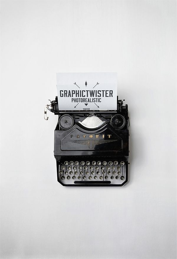 Typewriter Mockup on Behance