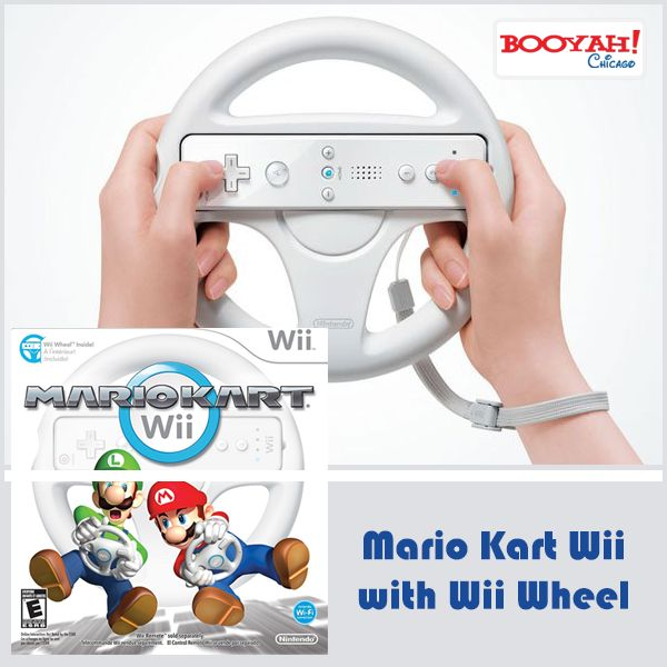 Mario Kart Wii with Wii Wheel #BlackFridaySale On #GenuineImportedProductsDirectFromUSA Only at Booyahchicago.com http://tinyurl.com/jh7crnz