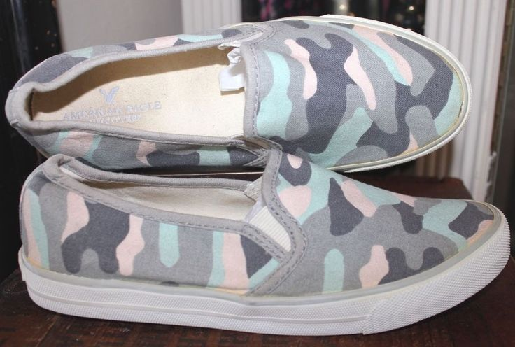 American Eagle Loafer Camouflage Pastel Canvas Women Shoe  7 #AmericanEagleOutfitters #loafer