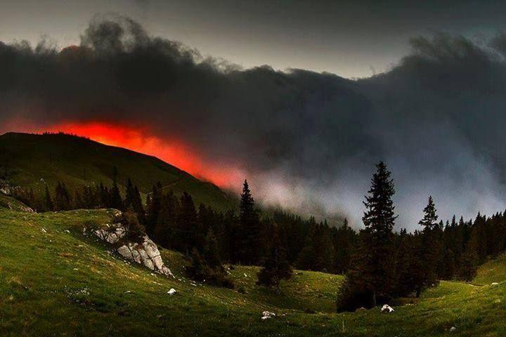 Rarău Mountains, Romania.