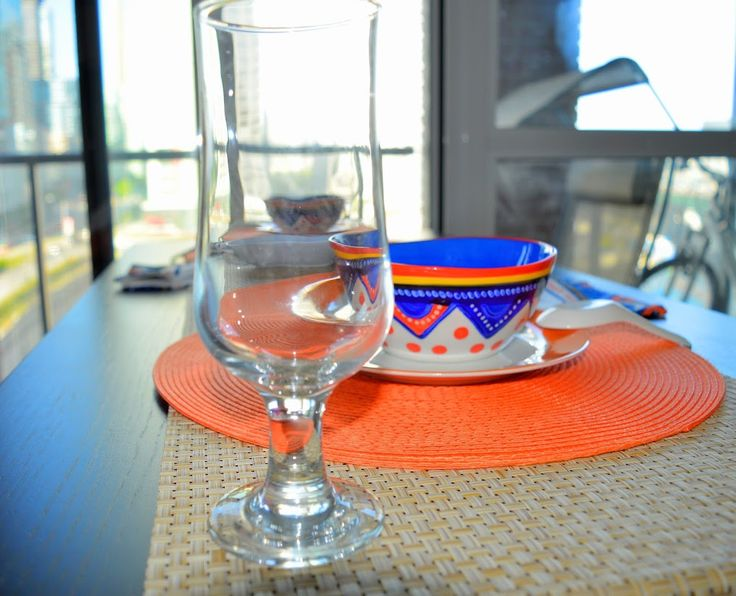 The AfroFusion Spot: Design Ideas: Soup For Two Please... interior design, home decor, afrocentric, african, dinnerware, table setting, orange, dinner, brunch, lunch, breakfast