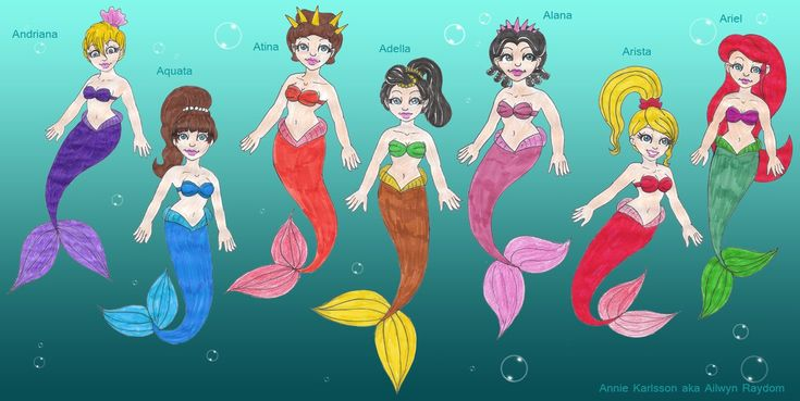 Gallery For gt The Little Mermaid Sisters Names And Pictures