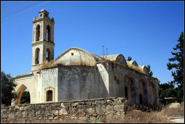 Bafra (Vokolida) köyü Ayia Georgios kilisesi. İskele Gazi Mağusa - Kıbrıs. (Famagusta - Cyprus).