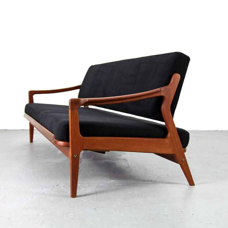 Mid century daybed arne wahl iversen denmark 60s danish for Mid century daybed sofa