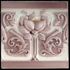 Período de Alto Relevo Original Antigo 6x6 Art Nouveau Majolica Telha
