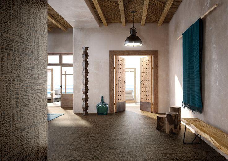 Cisa-Craft-0, Séjour, style Style designer, Massimo Ioso Ghini, Effet effet tissu (papier de tenture), Grès cérame émaillé, revêtement mur et sol, Surface mate, Bord rectifié, Variation de nuances V2