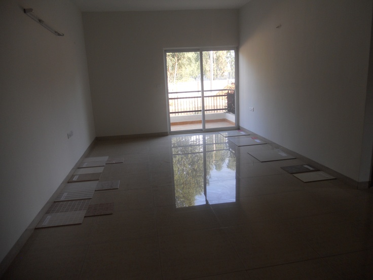 BREN Trillium - G + 5 suite of 2 / 3 BHK Apartments near Electronic City Phase II, Living Room with French Window and Balcony - In Naganathapura, near Mico Boasch, Azim Premji University