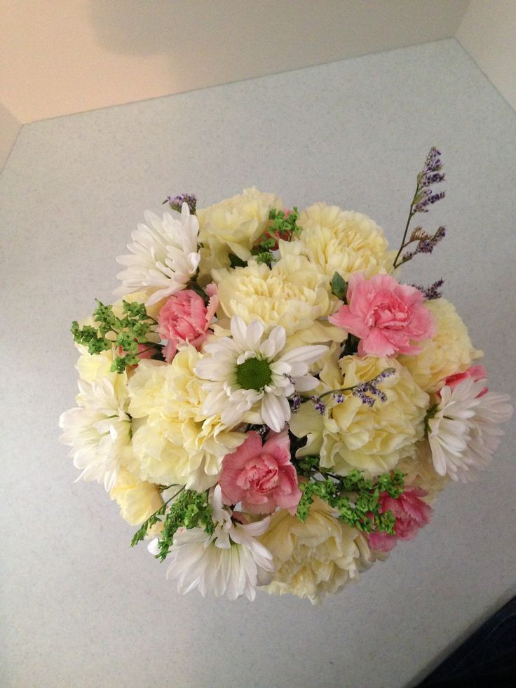 Good things come in small packages.  Small spring arrangement $30.00