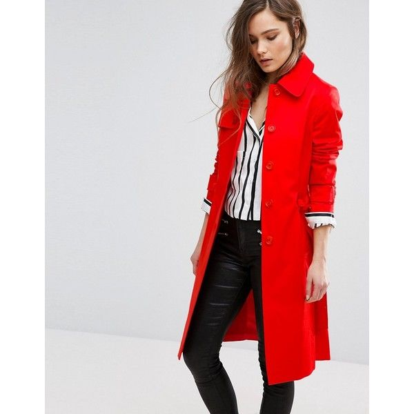 Best 25  Red trench coat ideas on Pinterest | Red winter coat, Red ...