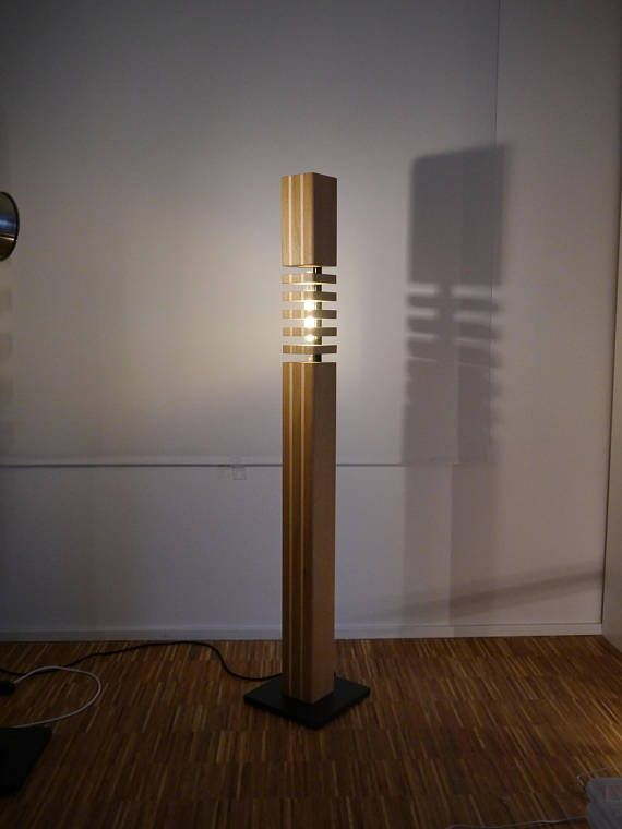 Moderne Massivholz Stehlampe Design No2 F Lb150 Mit Led Filament Light Es Werden Zwei Varianten Angebot Modern Wood Floor Lamp Wood Floor Lamp Oak Floor Lamp