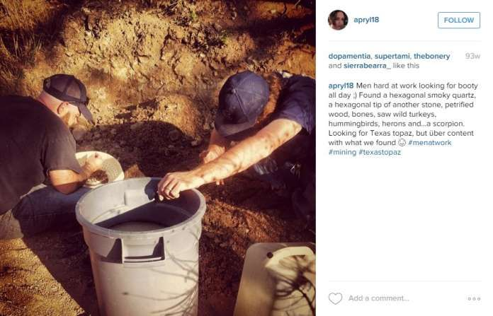 10. Dig for topaz in Mason CountyThe topaz hunting season has opened for the year, and Mason County has several ranches that allow you to search for your own jewels, like in this photo by @apryl18. Photo: Instagram Screenshots