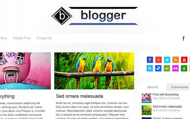 WordPress Themes Themes4all Blogger