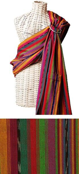 Maya Wrap Ring Sling: I love ring slings for how portable and versatile they are; easy to throw in a diaper bag for a trip through the store. This Maya Wrap is one of my favorites. The fabric is supportive and grips the rings well. The pocket is super handy. This Bright Stripes pattern is so pretty. $74.95