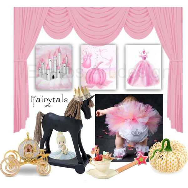Fairytale pink princess nursery cinderella by errikos-artdesign