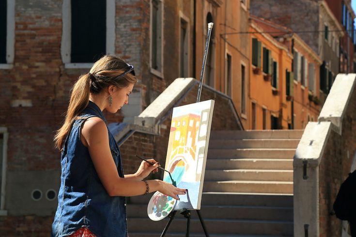 https://flic.kr/p/ySUgmu   Art lesson in Venice   Painting art classes in Venice, Italy http://www.drawing-lessons.sognare-venezia.net/