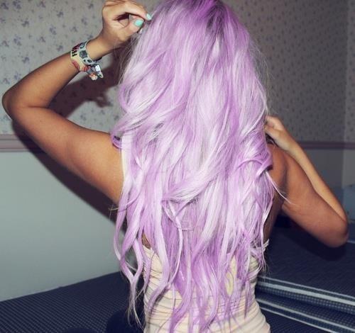 Pink   light purple ha...