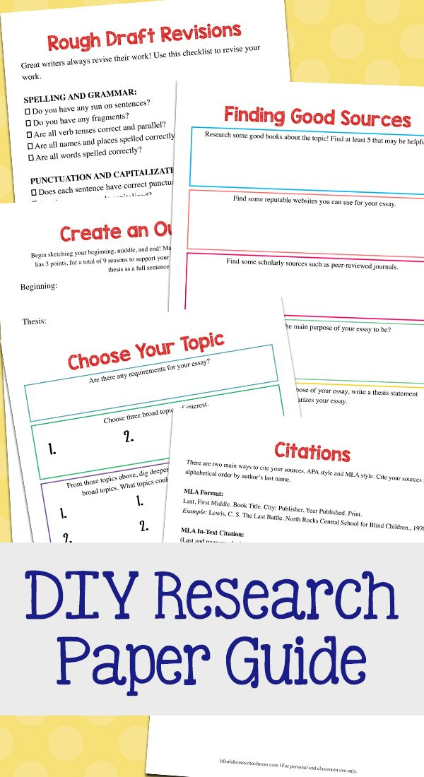 Research Paper Writing Guide Pack Tips For Homeschool Students Mom For All Seasons Homeschool Writing Research Paper Homeschool Students