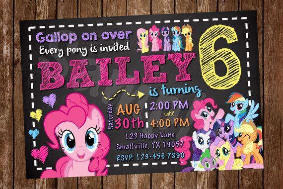 My Little Pony Invitation PP02 by Denleys on Etsy