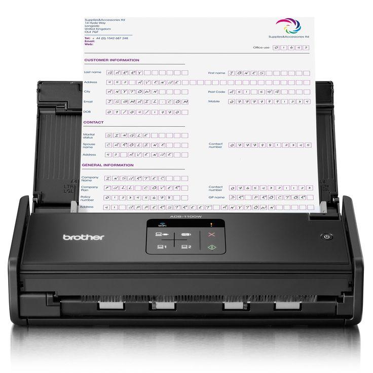 Brother ADS-1100W adalah Scanner A4 dengan kecepatan hingga 16 halaman per menit dilengkapi dengan Auto Document Feeder (ADF), Duplex & Network (Wireless).