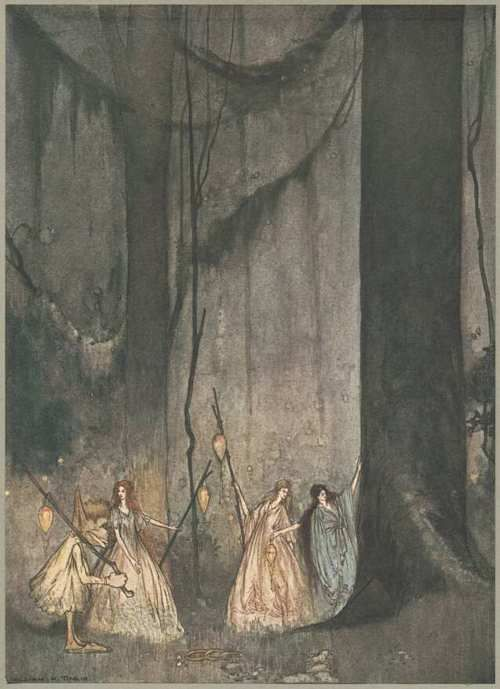 The Forest Fairies from 'The Ship That Sailed to Mars' illus. William Mitcheson Timlin