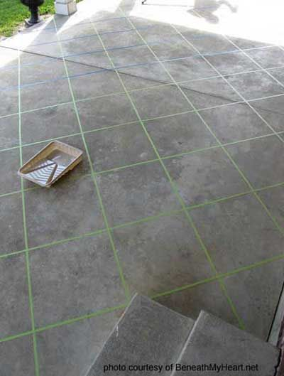 stained concrete patio floor to look like tile @Brenda Myers Myers Deaton  We should do this one on all your concrete!