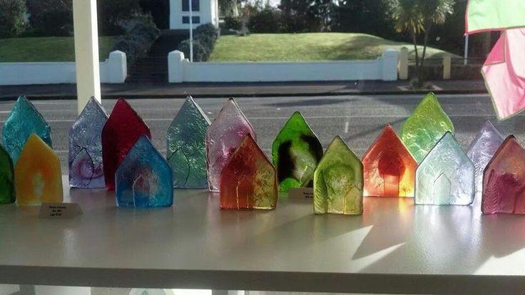 Glass houses - cast glass art