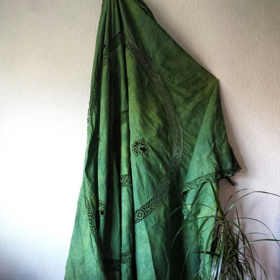 Green bed cover vintage bedding rustic by EthicalLifeStore on Etsy