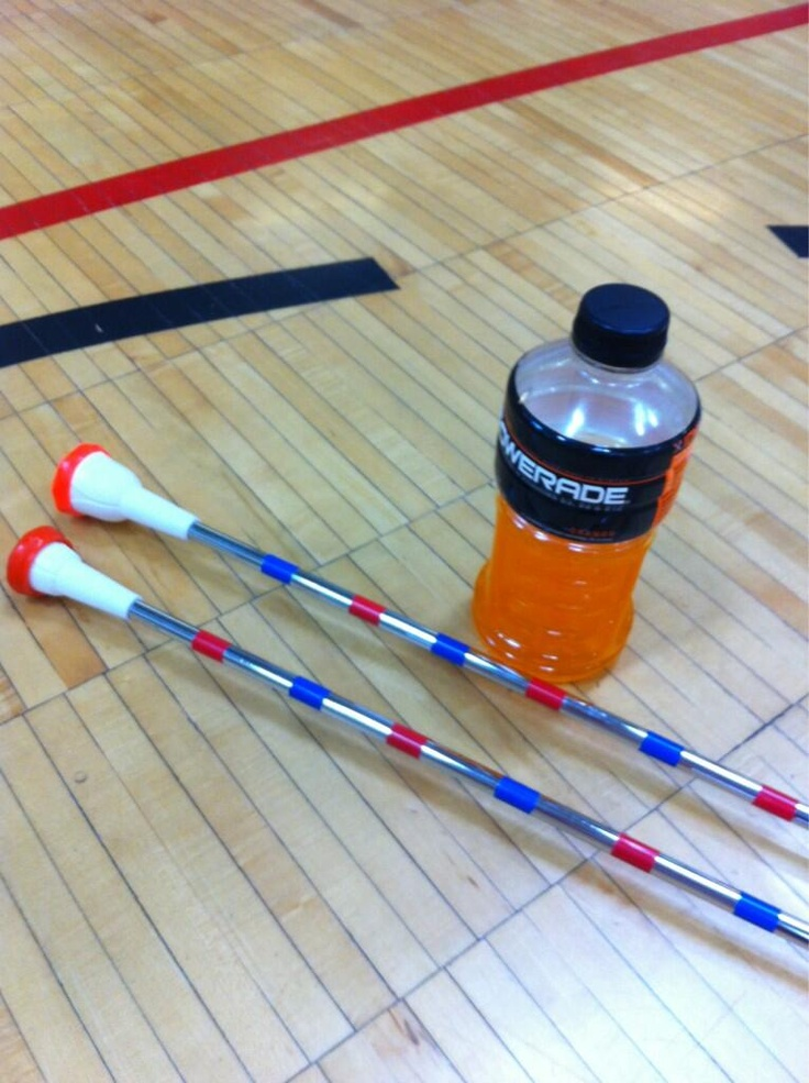 """""""Batons, open gym, powerade, and four hours to do nothing but practice""""  (Thanks for the quote and the pic, Katelyn!)"""