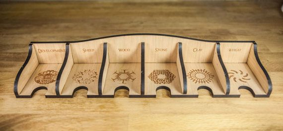 Wooden laser carved Settlers of Catan board game by LaserCutCatan